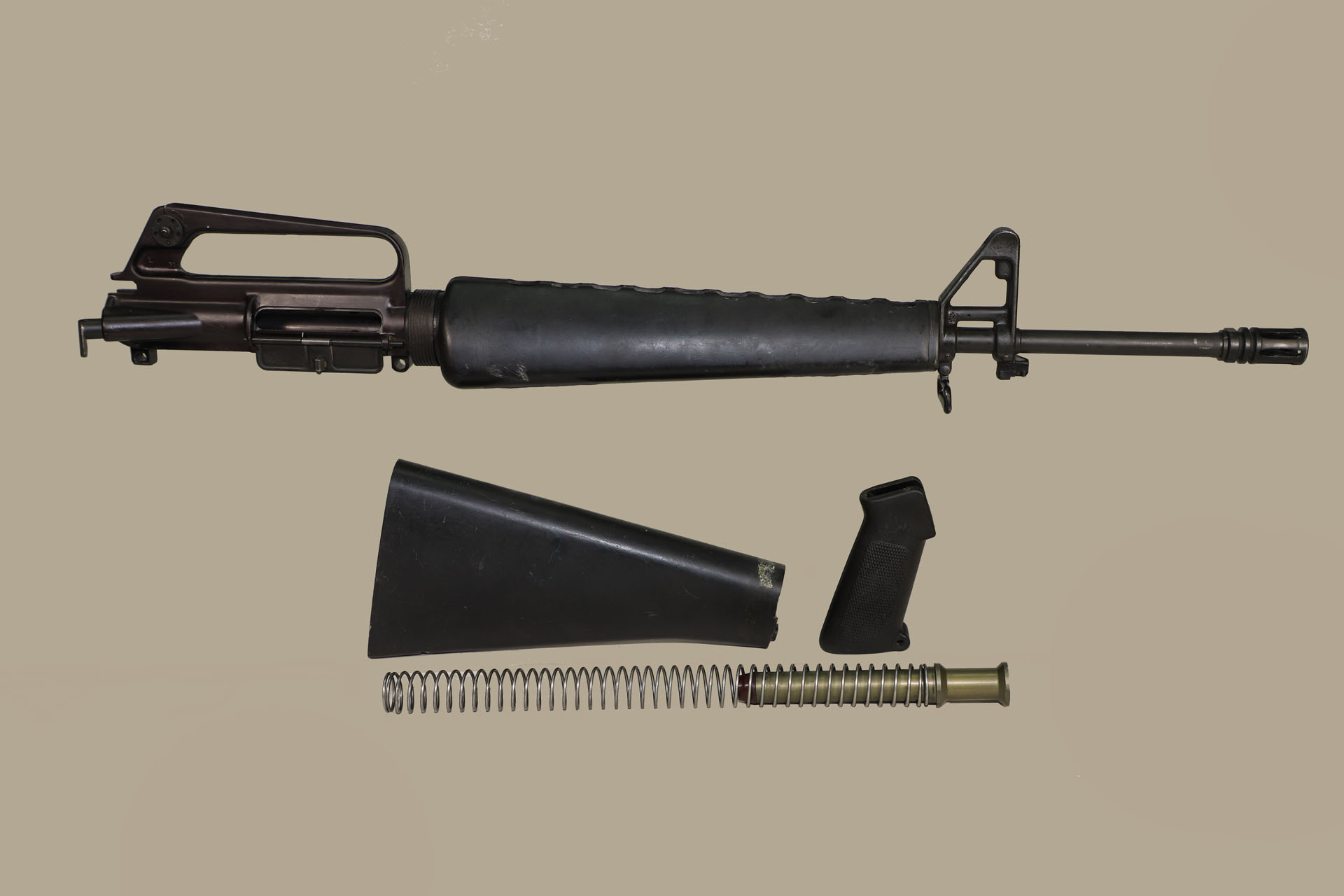 Colt USGI M16A1 Barreled Upper Receiver w/Stock, Handguards, Pistol Grip,  Buffer and Buffer Spring